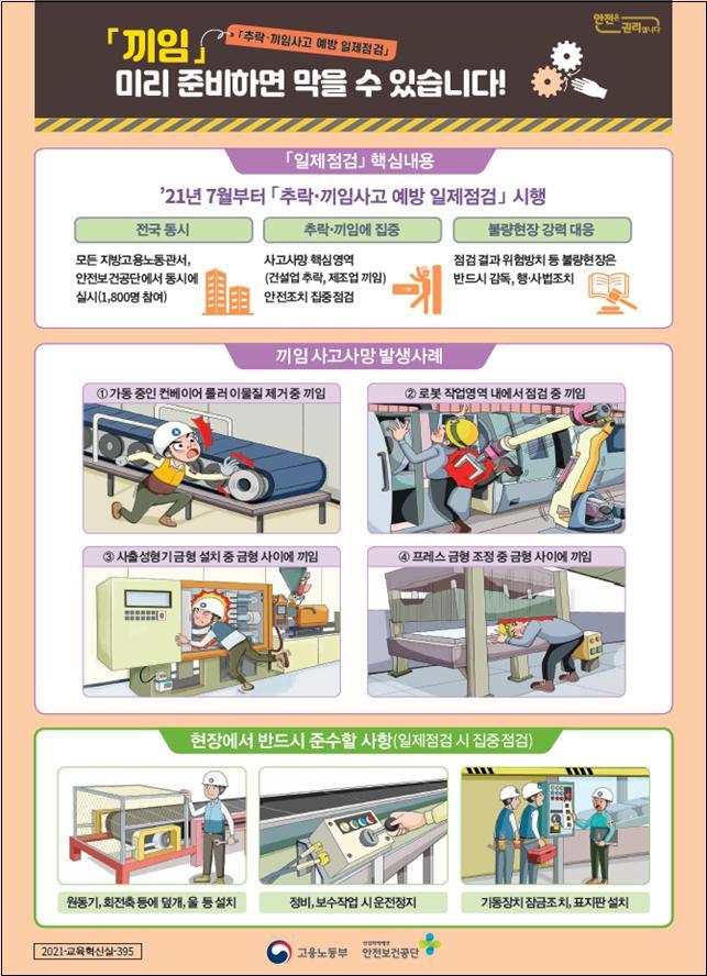 노동부, 전국 제조업 현장 일제점검…'끼임' 예방조치 집중 확인