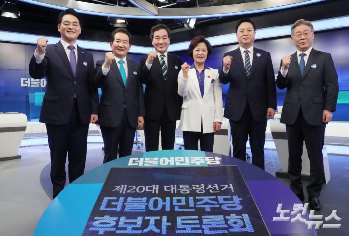 [영상]與 주자들 '원팀' 서약했지만…일촉즉발의 '李-李 화약고'