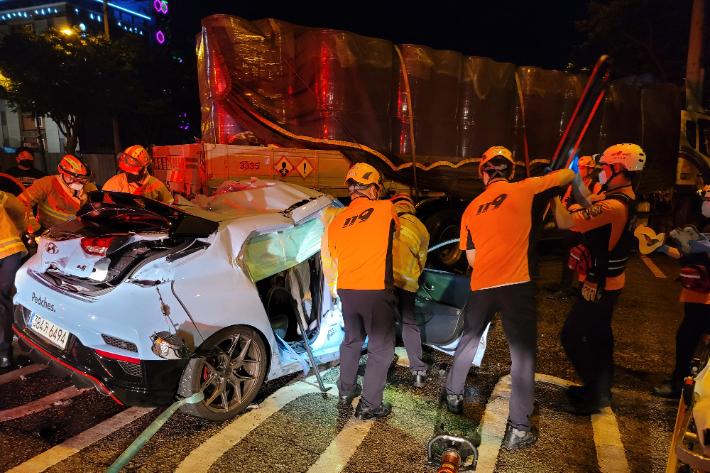 10대 5명 사상…불법 좌회전 트럭 운전자 검찰 송치