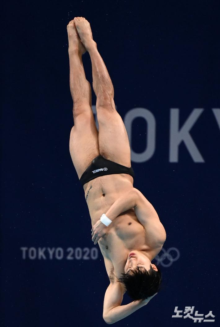 '예선 5위' 우하람, 첫 올림픽 메달 향한 다이빙[도쿄올림픽]