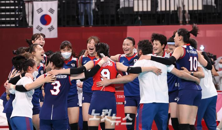 '女 배구 챔피언?' 일본·중국의 몰락…韓, 아시아 유일한 8강[도쿄올림픽]