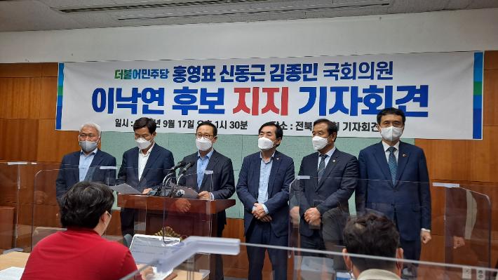 親文 홍영표·신동근 전북방문, 이낙연 지지 호소