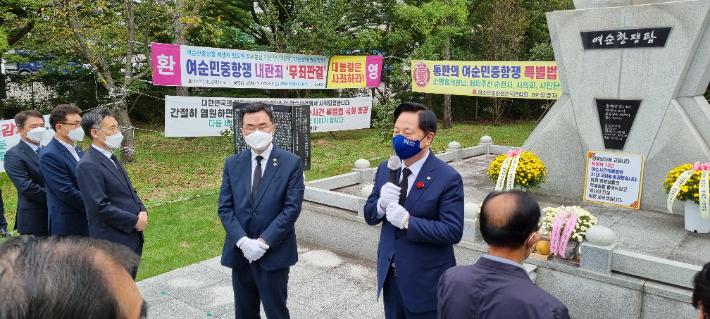 """김두관, 순천·광양·여수 돌며 """"지방분권 적임자"""" 지지 호소"""