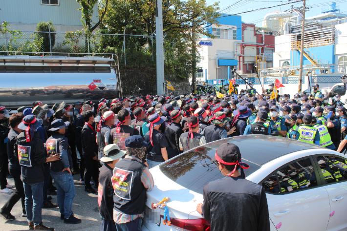 국민의힘 충북도당, 민노총 불법 집회 단호한 대처 촉구