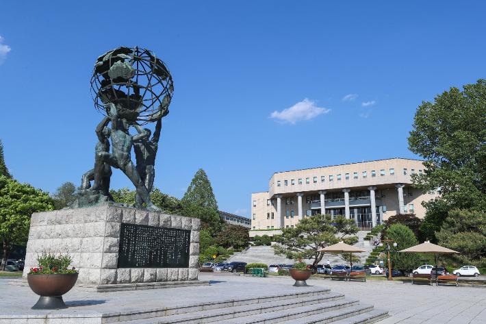 강원대 미래광장 전경. 강원대 제공