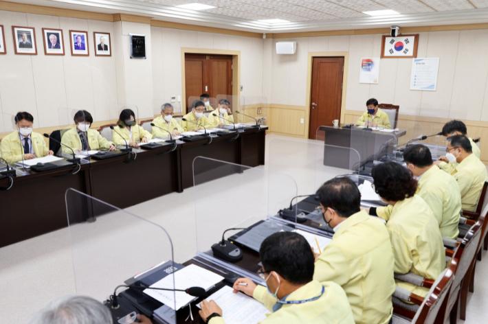 코로나19 확산방지 비상대책회의.  충북교육청 제공