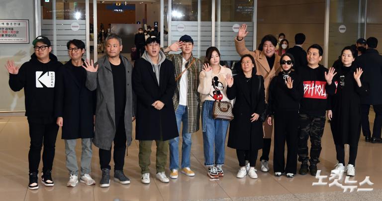 '오스카4관왕' 기생충 배우 금의환향